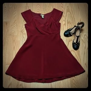 Beautiful wine colored party dress